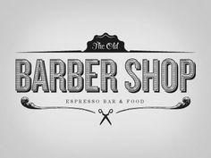 The Old Barber Shop Vintage Logo Design