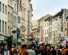 Picture of shops along the Sternstrasse