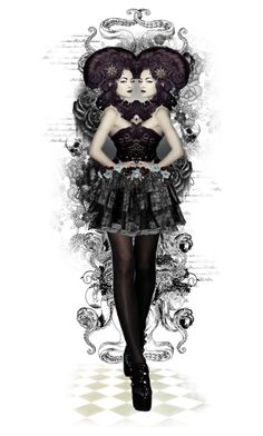 """Dark Zodiac - Gemini"" by girlinthebigbox ❤ liked on Polyvore featuring art, Dark, zodiac, gemini and starsign"