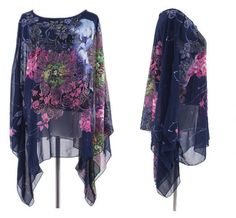 Cheap trouser clips, Buy Quality jeans work directly from China trousers women Suppliers: summer style Indian baroque dress Desigual Vintage summer dress 2017 vestidos women Dresses vestido de festa dress vestidos Chiffon Floral, Kimono Floral, Print Chiffon, Chiffon Dress, Chiffon Tops, Floral Sleeve, Floral Fabric, Kimono Shirt, Tunic Blouse