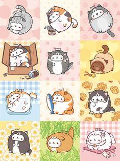 Chibi Kawaii, Kawaii Doodles, Kawaii Cat, Cute Doodles, Cat Wallpaper, Kawaii Wallpaper, Cute Animal Drawings Kawaii, Cute Drawings, Pusheen Cute