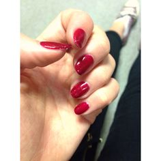 Shellac nails  Christmas sparkle: red