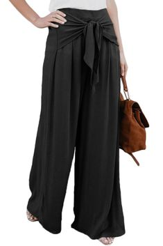 c1c1b8b0fe Walk The Walk Tie Palazzo Pants in Black. Palazzo Pants OnlineWide Leg  Palazzo PantsPalazzo TrousersWide Leg PantsSlacksTie Waist TrousersHigh ...