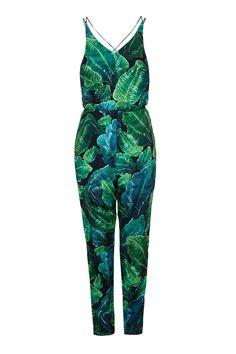 Topshop Palm Print Jumpsuit.  Nei til palmeolje, JA til palmeprint eller?