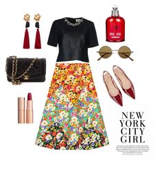 """""""spring in the city"""" by ratjuli ❤ liked on Polyvore featuring Gucci, Charlotte Tilbury, Chanel, MANGO, Cacharel and Erdem"""
