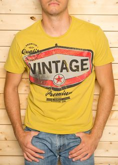 Vintage Tee In Yellow