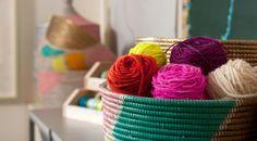Bright colors at Karen Kimmel Studios.