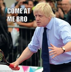 This already amusing picture of Secretary of State for Foreign Affairs Boris Johnson is made even funnier by the caption Witty One Liners, Funny Jokes, Hilarious, British Memes, Free Advice, Boris Johnson, Pinterest For Business, Laugh Out Loud, New Books