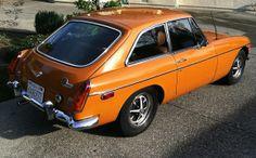 1974 MGB GT Orange For Sale Rear