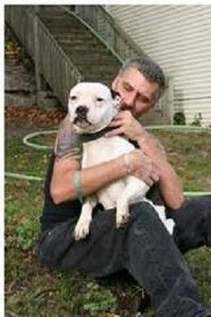 "ABBY THE HERO DOG~Joe Andrews was resting in his house in Ionia, MI & unaware a deadly fire was spreading on the front porch. 1 neighbor was keenly aware of the deadly flames & she summoned help. Abby's a pit bull & belongs to Vernon Lile, Joe Andrews' neighbor. She's never barked like that before! I came out & the porch was on fire. Abby's barking saved Andrews & other residents. Pit bulls get a lot of bad press, but if it wasn't for Abby, I wouldn't have come outside."" ANOTHER PIT BULL HER..."