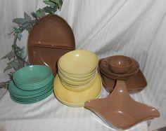Vintage Melmac Melamine chocolate brown by vintagehillbillies, $39.95