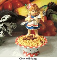 My Little Kitchen Fairies Figurine Twirling Spaghetti