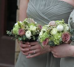 Flower Design Events: Fabulous Wedding in Pale Green Shades at St Annes Baptist Church & The Grand Hotel