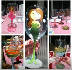 Fun wine glass decorating party ideas