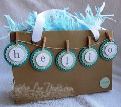 Love that adorable fringed tissue paper. What a fun gift for a friend.