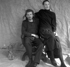Photo of Brendan and Lisa from 1989 taken by Sara Leigh Lewis in London. Lisa Gerrard, Dead Can Dance, Boring People, Nina Hagen, Patti Smith, Post Punk, World Music, David Bowie, Folk