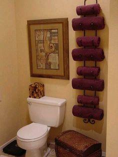 Wine rack as towel rack!