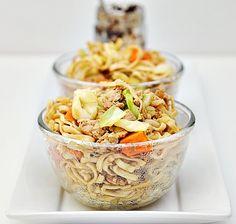 Tchicken and vegetables noodles