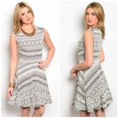I just discovered this while shopping on Poshmark: Creme and Black Dress. Check it out!  Size: S,M