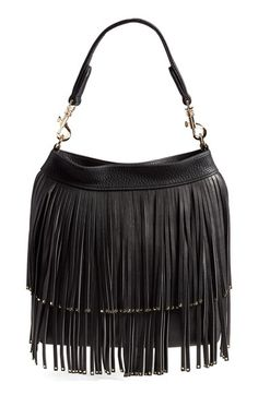 Deux Lux 'Mae' Vegan Leather Fringe Hobo available at #Nordstrom