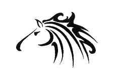 Running Horse by Tinsel-Shine on deviantART #tribal #tattoo #design