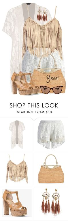 """~ 💕 Cork & Fringe 💕 ~"" by pretty-fashion-designs ❤ liked on Polyvore featuring City Chic, Chicwish, Boohoo, Calvin Klein, MICHAEL Michael Kors, Gas Bijoux, Chanel and plus size clothing"