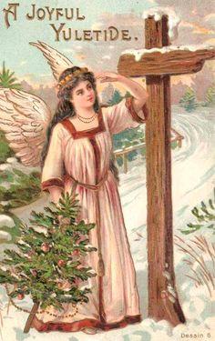 Vintage Christmas Card Religious Christmas Cards, Vintage Christmas Cards, Retro Christmas, Vintage Cards, Vintage Postcards, Christmas Postcards, Christmas Crafts, Christmas Artwork, Christmas Images