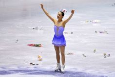 TOKYO, JAPAN - NOVEMBER 08:  Mao Asada of Japan waves to fans during day one of ISU Grand Prix of Figure Skating 2013/2014 NHK Trophy at Yoy...