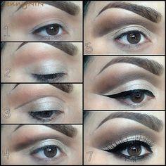 All eye eyeshadows are from Pati Dubroff Perfect Palette ❤❤❤ ( want detai. Cut Crease Eyeshadow, Blue Eyeliner, Eyeshadow Makeup, Eyeshadows, Gold Makeup, Diy Makeup, Makeup Ideas, Makeup Tricks, Makeup Tutorials