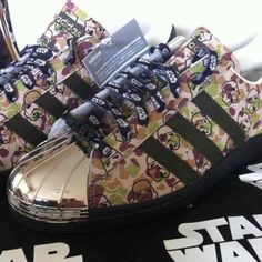 Adidas Originals Superstar 80's STAR WARS Customized Sneaker Shoes Limited 624 #Adidas #AthleticSneakers