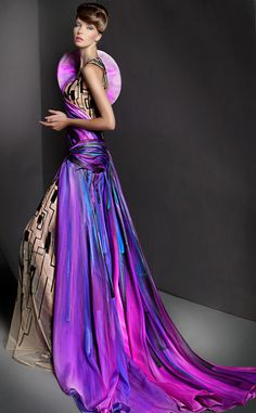 Blanka Matragi.  Amazing colors... fabrics... EVERYTHING!