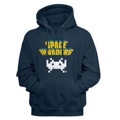 Space Invaders Hoodie / 70s 80s throwback VIDEO GAME Hooded Sweatshirt Colorful Hoodies, Cool Hoodies, Space Battles, Space Invaders, Movie T Shirts, Personalized T Shirts, Custom T, Hooded Sweatshirts, Video Game