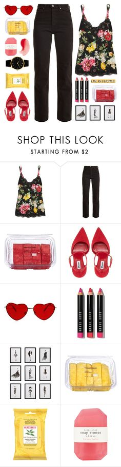 """i'm a rebel just for kicks now"" by typicalgemini ❤ liked on Polyvore featuring Dolce&Gabbana, Eve Denim, Lindt, Bobbi Brown Cosmetics, Frontgate, Burt's Bees, Pelle and Larsson & Jennings"