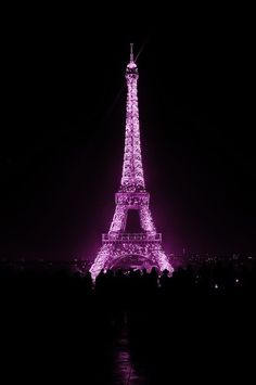 Pantone Color of the Year illuminating the Eiffel Tower in Paris, France Purple Wall Art, Purple Walls, Purple Love, All Things Purple, Pink, Dark Purple Aesthetic, Orchid Color, Purple Wallpaper Iphone, I Love Paris