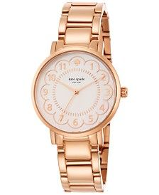 kate spade new york Women's Gramercy Rose Gold-Tone Stainless Steel Bracelet Watch 34mm 1YRU0791