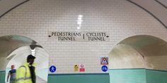 Pedestrian tunnel under the river Tyne