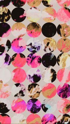 Coral yellow circles pattern Objet D art 1c9b60eadc89