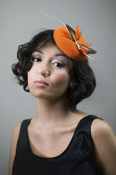 Tweed Cocktail Hat  Love Birds by MaggieMowbrayHats #millinery #judithm #hats