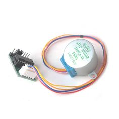 DC 5V 4-Phase 5-Wire Step Motor + Driver Board Test Module for Arduino. Model D1207011 Quantity 1 Color Green Material PCB + Electronic component Features Voltage: DC 5V'Phase:4step angle: 5.625 x 1/64 DC resistance: 200ohm+/-7% (25'C), insulation resistance >10Mohm (500V), dielectric strength: 600VAC/1mA/1s, insulation class: A, no-load pull-in frequency: >600Hz, pull in torque >34.3mN.m, temperature rise: <40K (120Hz), noise: <40dB (120Hz, No load, 10cm) Application Great for DIY projects…