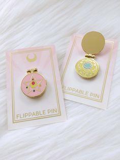 Moon Power Enamel Flip Pin | 1st Edition