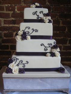 4 Tier Square wedding cake