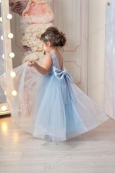 Excited to share this item from my shop: Dusty Blue Flower Girl Dress V-neckline Back Bow First Birthday Dress Blue Tutu Dress Wedding party Bridesmaid Blue Tulle Lace Girl Dress Blue Flower Dress, Girls Lace Dress, Lace Wedding Dress With Sleeves, Wedding Flower Girl Dresses, Flower Dresses, Wedding Party Dresses, Dusty Pink Dresses, Blue Dresses, First Birthday Dresses
