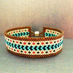 Bracelet en perles miyuki peyote tissage