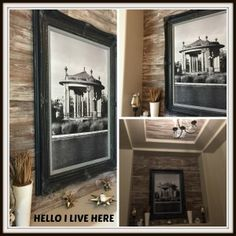 Checkout how we teamed with Restyle Junkie, who creates beautiful artisan textured wood, to build a barnwood inspired distressed wood wall. Repurposed Wood, Reclaimed Barn Wood, Distressed Wood Wall, How To Distress Wood, Wood Pallets, Rustic, Inspired, Live, Home Decor