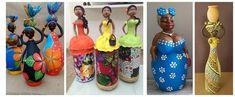 Aprende cómo hacer una linda africana con botellas recicladas ~ Solountip.com Bottle Art, Bottle Crafts, Home Crafts, Diy Crafts, African Crafts, Biscuit, Outdoor Crafts, Christmas Gifts, Christmas Ornaments