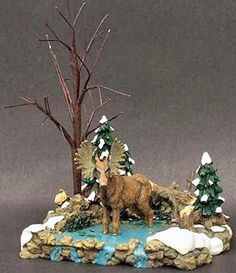 "Dept 56 Village Accessories ""Moose in the Marsh"" Xmas, Christmas Ornaments, Christmas Ideas, Department 56, Christmas Villages, Moose, Snow, Display, Holiday Decor"