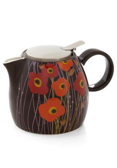 Queen of Poppy Teapot | Mod Retro Vintage Kitchen | ModCloth.com