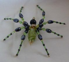 Shawkl: Don't be Afraid... beaded spiders :)  This blog post has several lovely pictures of her beaded spiders - inspiration only :)
