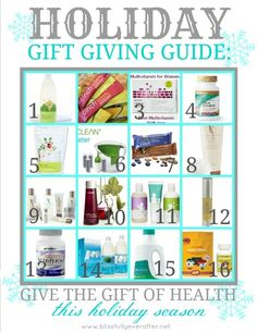 Holiday Gift Ideas....give the gift of health! #giftgiving #holiday #shaklee http://www.moyragorski.myshaklee.com