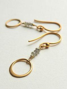 a4e0a60047f9 Calypso Earrings with Grey Raw Diamonds